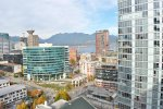 25th Floor Mountain & City View 1 Bedroom & Den Apartment Rental at Spectrum in Vancouver. 2506 - 668 Citadel Parade, Vancouver, BC, Canada.