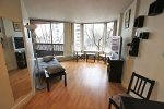 Fully Furnished 5th Floor 1 Bedroom Apartment Rental at Anchor Point in Downtown Vancouver. 505 - 1330 Burrard Street, Vancouver, BC, Canada.