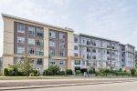 2nd Floor Unfurnished 1 Bedroom Apartment Rental at Quattro in Whalley, Surrey. 205 - 13728 108th Avenue, Surrey, BC, Canada.