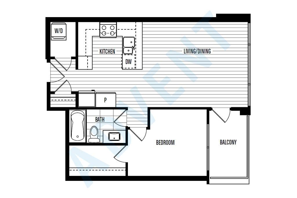 Northbank 1 bedroom apartment rental quay new westminster for 125 court street floor plans