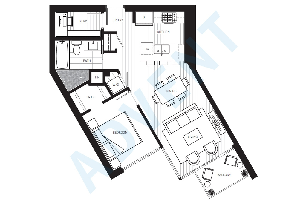 Central apartment rental vancouver advent for Rental property floor plans