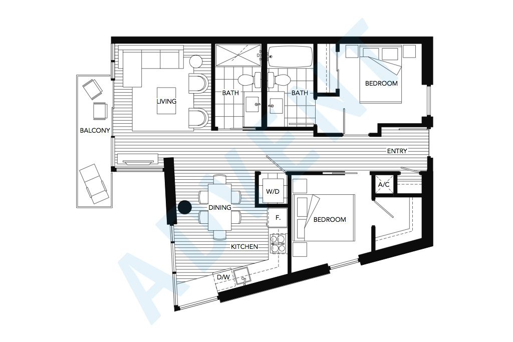 The mark apartment rental vancouver advent for Rental property floor plans