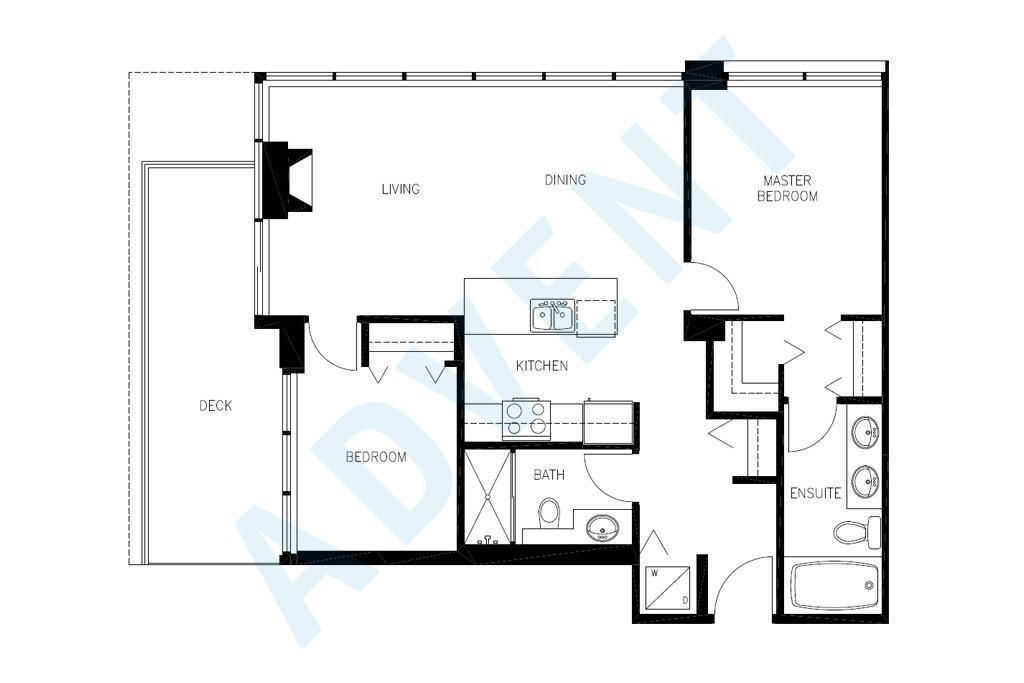 Watercolours 2 Bedroom Apartment Rental 2006-2289 Yukon Burnaby: ADVENT