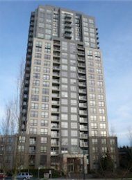 Mountain View 22nd Floor Unfurnished 1 Bedroom Apartment For Rent at Latitude in East Vancouver. 2210  - 3663 Crowley Drive, Vancouver, BC, Canada.