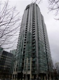Unfurnished 1 Bedroom + Den & Solarium Apartment Rental at Venus in Downtown Vancouver. 2008 - 1239 West Georgia Street, Vancouver, BC, Canada.