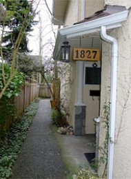 2 Bedroom Unfurnished Townhouse For Rent in Kitsilano on Vancouver's Westside. 1827 West 13th Avenue, Vancouver, BC, Canada.