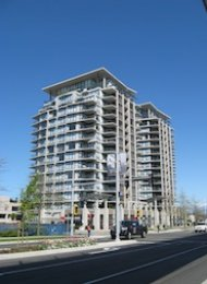 Acqua 1 Bedroom Unfurnished Apartment For Rent in Brighouse Richmond. 1506 - 5811 No. 3 Road, Richmond, BC, Canada.