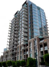 Donovan Unfurnished 1 Bedroom Apartment Rental in Yaletown Vancouver. 805 - 1055 Richards Street, Vancouver, BC, Canada.