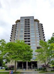 Unfurnished 1 Bedroom Apartment Rental in Metrotown at La Mirage. 908 - 6070 McMurray Avenue, Burnaby, BC, Canada.
