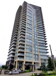 Perspectives Unfurnished 2 Bed Apartment Rental in Brentwood Burnaby. 2807 - 2133 Douglas Road, Burnaby, BC, Canada.