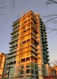 Unfurnished Studio Rental at Alexandra in Vancouver's West End. 1006 - 1221 Bidwell Street, Vancouver, BC, Canada.