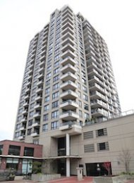 The Q Unfurnished 1 Bedroom Apartment For Rent in New Westminster Quay. 1406 - 1 Renaissance Square, New Westminster, BC, Canada.
