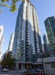 Classico Unfurnished 1 Bedroom Apartment For Rent in Coal Harbour, Vancouver. 407 - 1328 West Pender Street, Vancouver, BC, Canada.