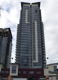 Legacy Towers 2 Bedroom Apartment For Rent in Brentwood. 1505 - 2225 Holdom Avenue, Burnaby, BC, Canada.