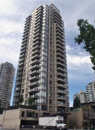 2 Bedroom Unfurnished Apartment Rental With Mountain Views in Brentwood at Oma. 1703 - 4250 Dawson Street, Burnaby, BC, Canada.