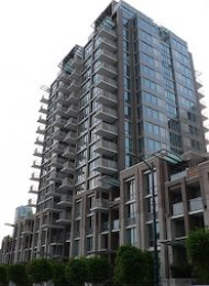 Modern 8th Floor Unfurnished 2 Bedroom & Den Apartment For Rent at Donovan in Yaletown. 806 - 1055 Richards Street, Vancouver, BC, Canada.