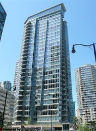 Cielo 1 Bedroom Luxury Apartment Rental in Coal Harbour Vancouver. 2105 - 1205 West Hastings Street, Vancouver, BC, Canada.