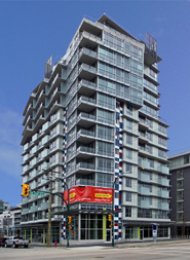 Pinnacle Living Live Work Luxury Townhouse Rental in False Creek South. 301 West 2nd Avenue, Vancouver, BC, Canada.