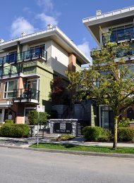 2 Bedroom Unfurnished Townhouse For Rent in Lower Lonsdale at Noma. 62 - 728 West 14th Street, North Vancouver, BC, Canada.