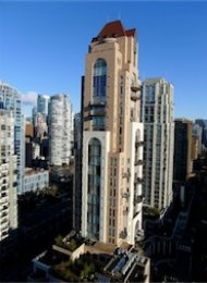Grace Luxury 1 Bedroom Unfurnished Apartment Rental in Yaletown, Vancouver. 502 - 1280 Richards Street, Vancouver, BC, Canada.