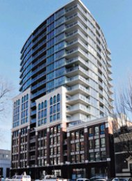 Interurban 1 Bedroom Unfurnished Apartment Rental New Westminster Quay. 1101 - 14 Begbie Street, New Westminster, BC, Canada.
