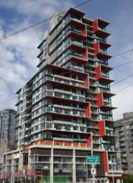 1 Bedroom Apartment Rental at The Rolston in Downtown Vancouver. 611 - 1325 Rolston Street, Vancouver, BC, Canada.