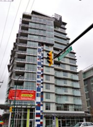 Pinnacle Living 1 Bed Apartment Rental in False Creek Westside Vancouver. 804 - 63 West 2nd Avenue, Vancouver, BC, Canada.