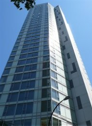 Fully Furnished 1 Bedroom Apartment Rental in Coal Harbour at Sapphire. 2202 - 1188 West Pender Street, Vancouver, BC, Canada.