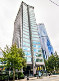 Furnished 1 Bedroom Apartment Rental in Downtown Vancouver at Electra. 408 - 989 Nelson Street, Vancouver, BC, Canada.
