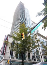 The Hudson 1 Bedroom & Den Apartment Rental in Downtown Vancouver. 2404 - 610 Granville Street, Vancouver, BC, Canada.