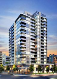 Lido 2 Bed Luxury Unfurnished Apartment For Rent in Southeast False Creek. 1503 - 110 Switchmen Street, Vancouver, BC, Canada.