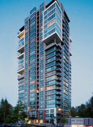 The Residences 2 Bedroom Apartment For Rent in Suter Brooke Port Moody. 801 - 301 Capilano Road, Port Moody, BC, Canada.