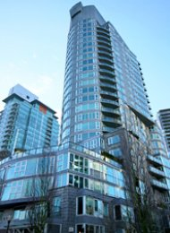 Luxury Furnished 2 Bed & Flex Apartment Rental at Bauhinia in Coal Harbour. 1401 - 535 Nicola Street, Vancouver, BC, Canada.