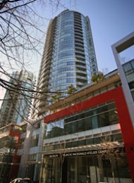 1 Bedroom Unfurnished Apartment Rental in Downtown Vancouver at Atelier. 1607 - 833 Homer Street, Vancouver, BC, Canada.