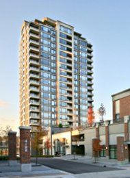 Furnished 1 Bedroom Apartment For Rent in Brentwood Burnaby at Tandem. 901 - 4182 Dawson Street, Burnaby, BC, Canada.