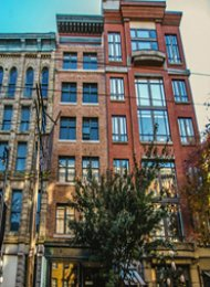 Furnished Live/Work Luxury Loft For Rent in Gastown at The Globe. 3A - 34 Powell Street, Vancouver, BC, Canada.