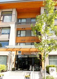 New Water 2 Bedroom Unfurnished Apartment For Rent in East Vancouver. 202 - 3163 Riverwalk Avenue, Vancouver, BC, Canada.