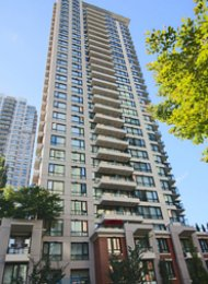 Furnished 1 Bedroom Apartment Rental at Yaletown Park in Vancouver. 2604 - 928 Homer Street, Vancouver, BC, Canada.