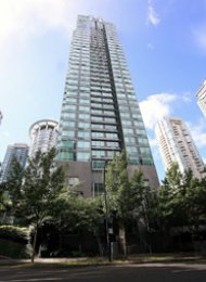1 Bedroom Apartment Rental at the Residences on Georgia in Coal Harbour. 1106 - 1288 West Georgia Street, Vancouver, BC, Canada.
