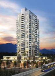 Evergreen 1 Bedroom Unfurnished Apartment For Rent in North Coquitlam. 1003 - 3007 Glen Drive, Coquitlam, BC, Canada.