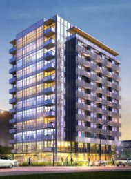 Meccanica Furnished Luxury 1 Bedroom Apartment Rental in False Creek. 1102 - 108 East 1st Avenue, Vancouver, BC, Canada.