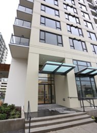 Modern 10th Floor 2 Bedroom Unfurnished Apartment For Rent at Quintet in Richmond. 1008 - 7888 Ackroyd Road, Richmond, BC, Canada.