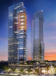 Station Square 1 Bedroom Apartment For Rent in Metrotown Burnaby. 3305 - 4688 Kingsway, Burnaby, BC, Canada.