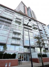 2 Bed Unfurnished Apartment For Rent at Central in Southeast False Creek. 103 - 1618 Quebec Street, Vancouver, BC, Canada.