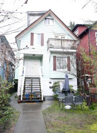 Furnished 2 Bedroom Rental Suite in Kitsilano in Vancouver's Westside. 2629 West 5th Avenue, Vancouver, BC, Canada.