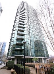 1 Bedroom Apartment For Rent at Harbourside Park in Coal Harbour. 1506 - 555 Jervis Street, Vancouver, BC, Canada.