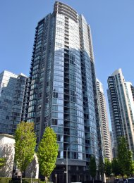 Unfurnished 1 Bedroom Luxury Apartment For Rent at Azura in Yaletown. 1801 - 1495 Richards Street, Vancouver, BC, Canada.