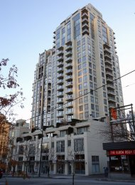 Unfurnished 1 Bedroom + Den + City Views Apartment Rental at Eden in Yaletown. 1804 - 1225 Richards Street, Vancouver, BC, Canada.