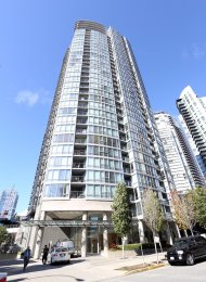 Fully Furnished Luxury 1 Bedroom Apartment Rental at Azura in Yaletown. 606 - 1495 Richards Street, Vancouver, BC, Canada.