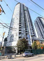 Furnished 2 Bedroom Apartment Rental at The Brava in Downtown Vancouver. 907 - 1199 Seymour Street, Vancouver, BC, Canada.